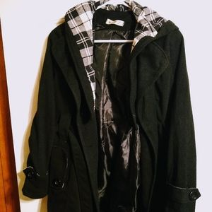 Women's Long Coat with Removable Hood
